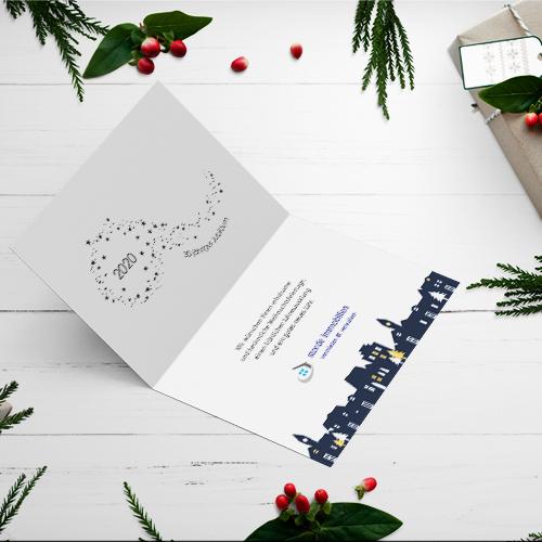 Grußkarten Weihnachten Storde Immobilien | Mediendesign