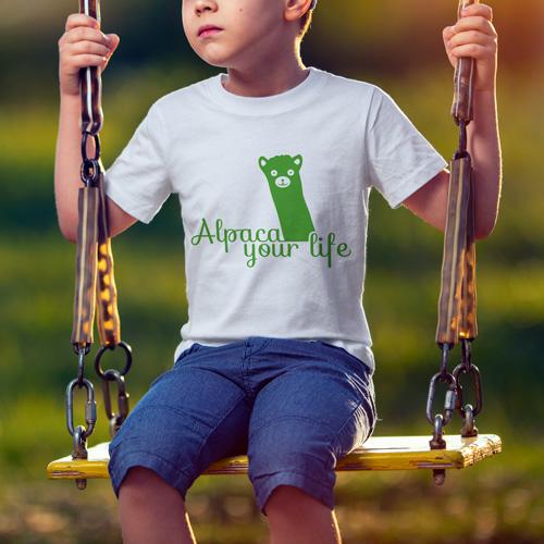 """T-Shirt Design """"Alpaca your life"""""""