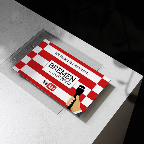 Visitenkarte Bremen to go | Mediendesign