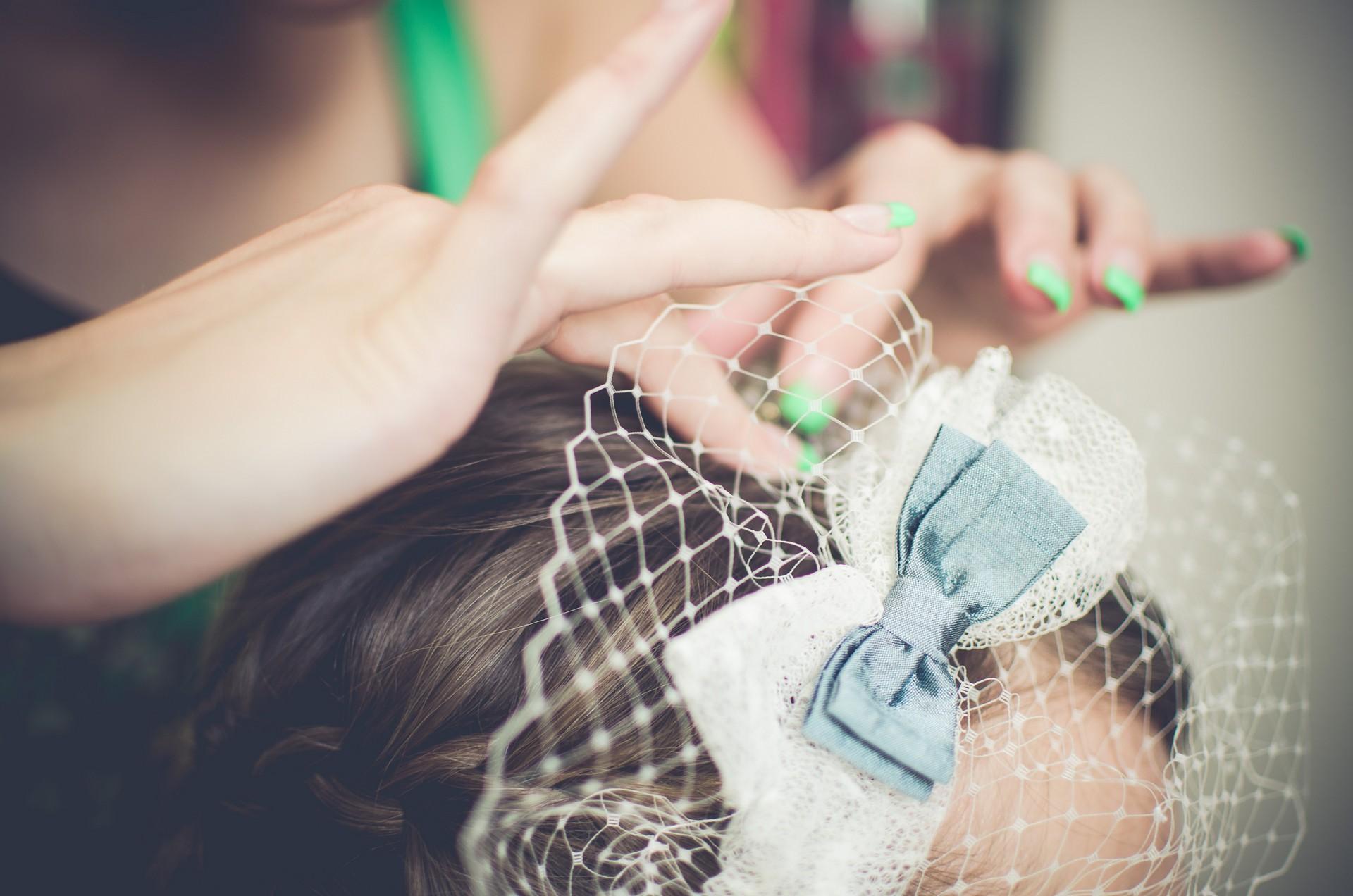 Hochzeitsfotografie Haarstyling