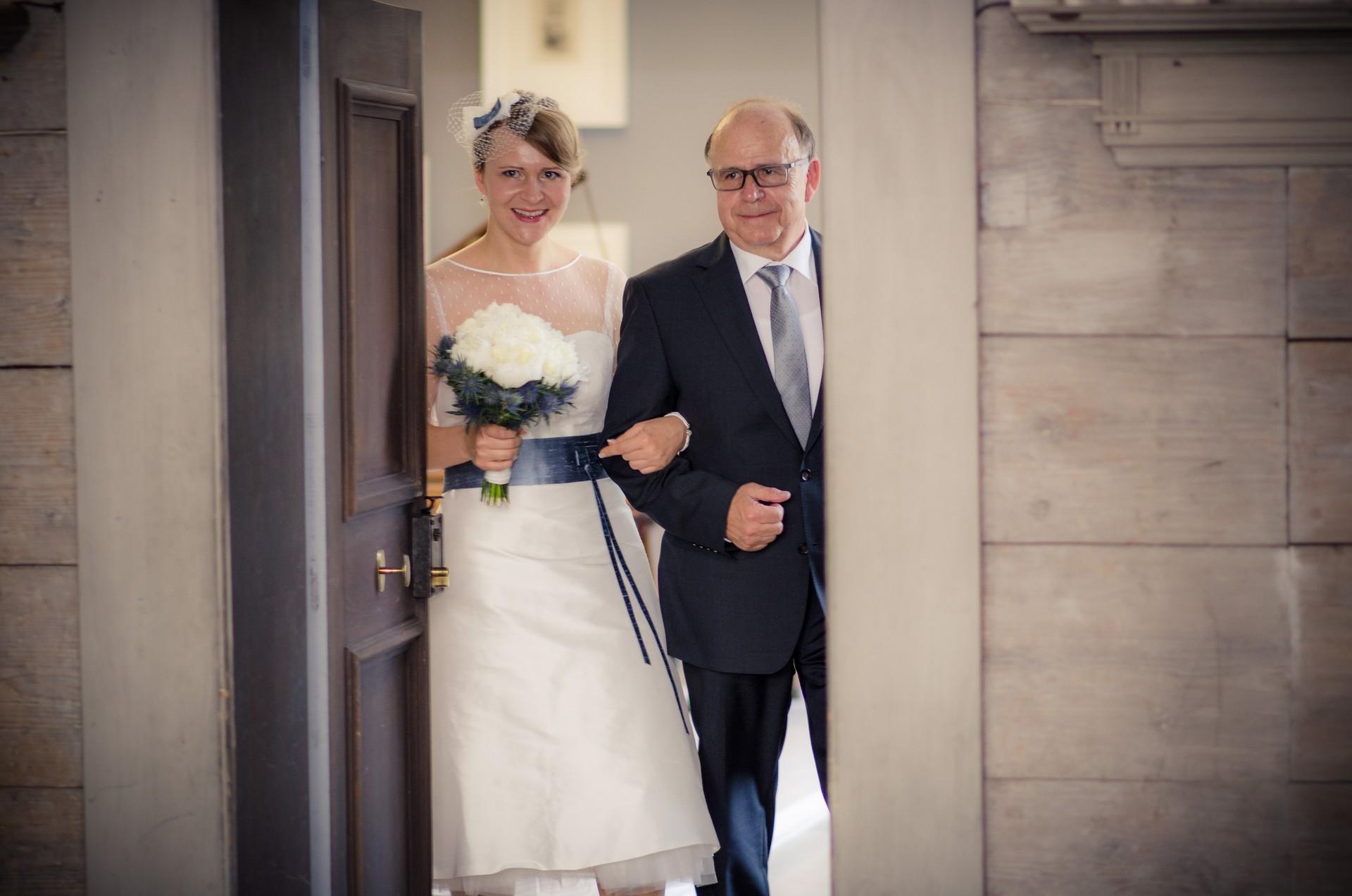 Hochzeitsfotografie Braut mit Vater