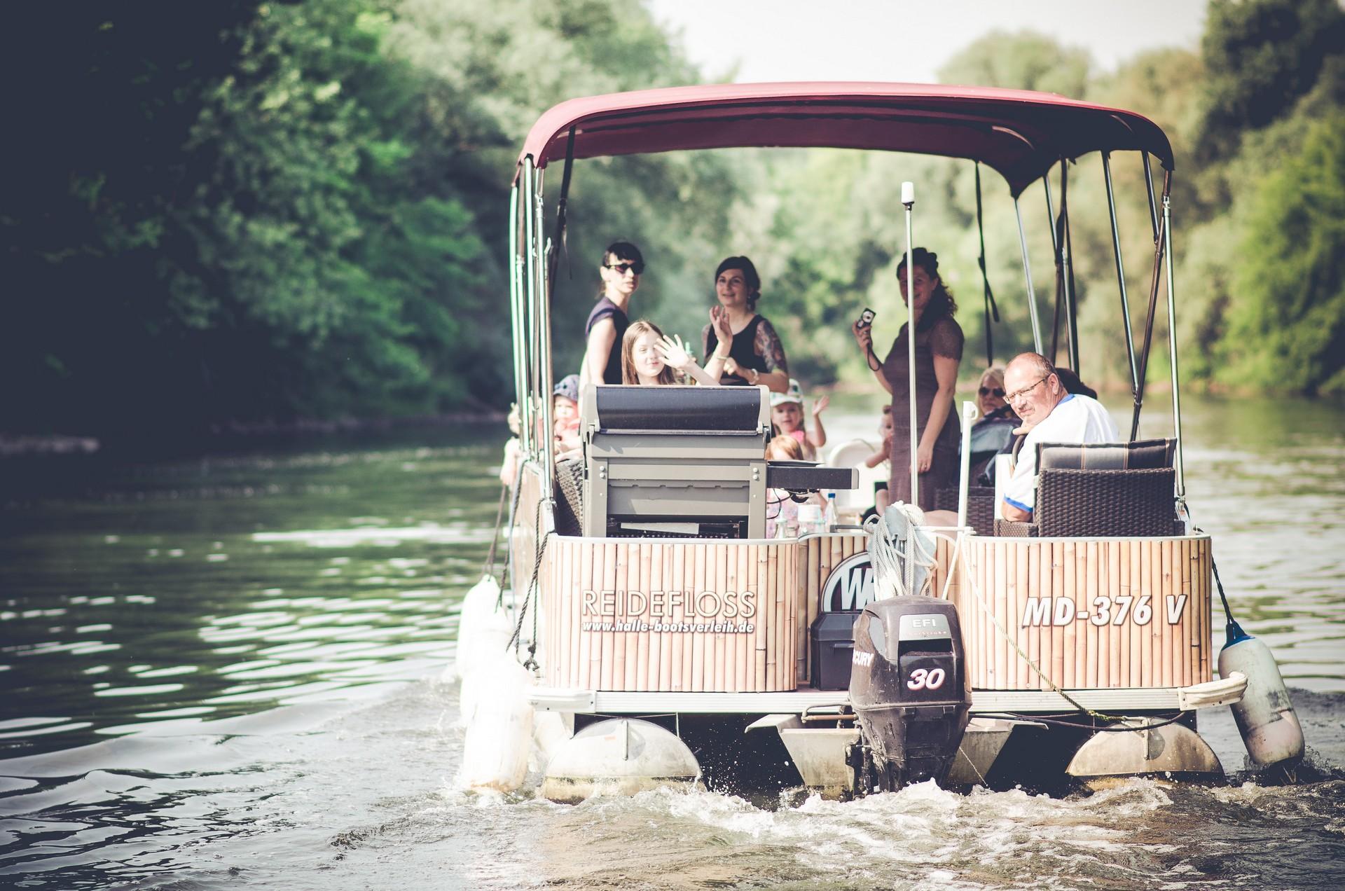 Hochzeitsfotografie Boot