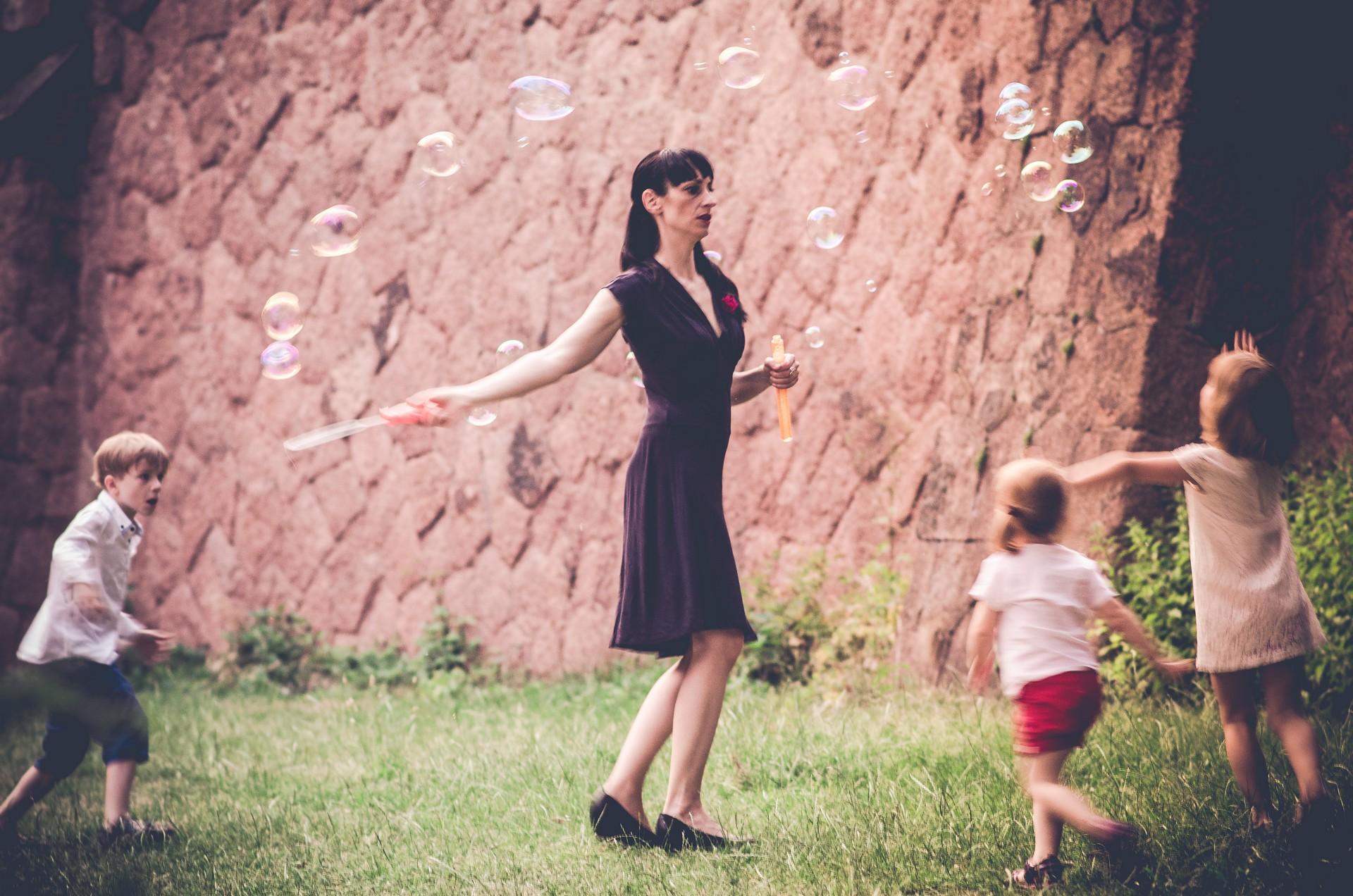 Hochzeitsfotografie Seifenblasen
