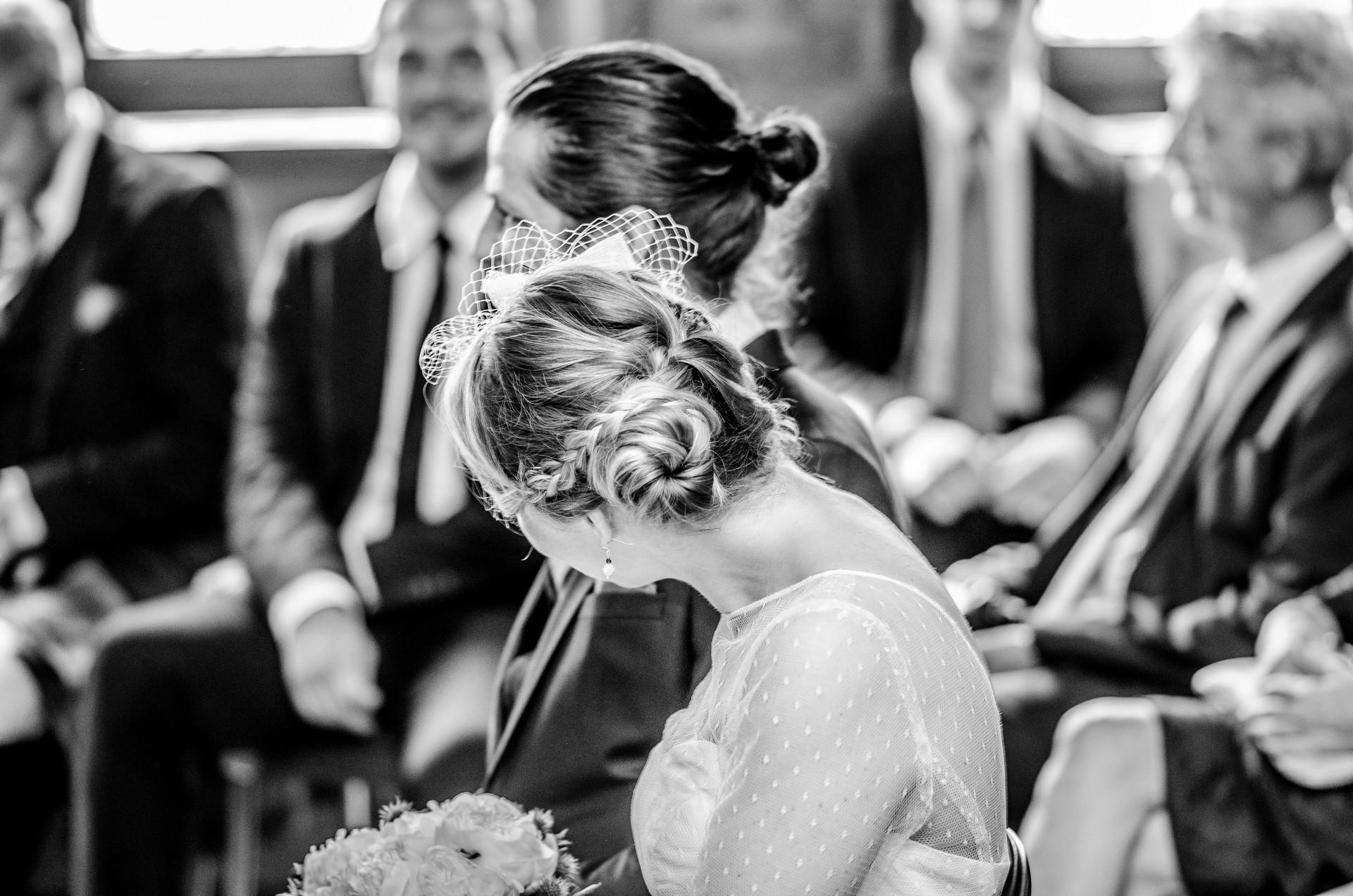 Hochzeitsfotografie schwarz-weiß