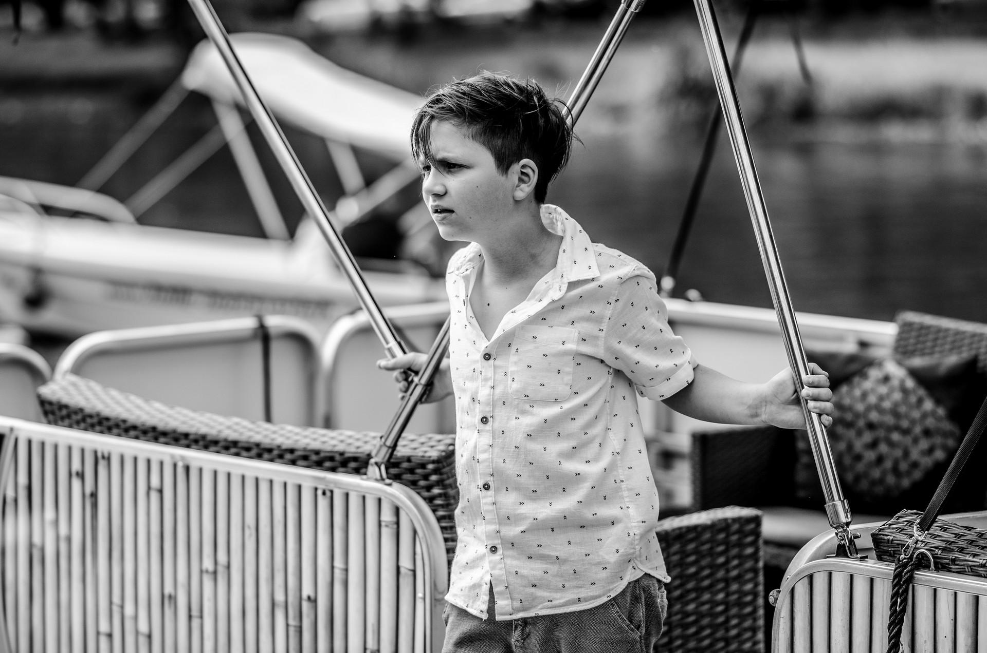 Hochzeitsfotografie auf dem Boot