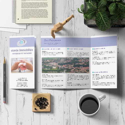 Infoflyer Storde Immobilien | Mediendesign